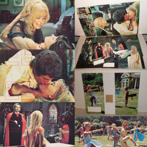 1971 LUST FOR A VAMPIRE Lobby card set HAMMER horror YUTTE STENSGAARD SEXY L@@K