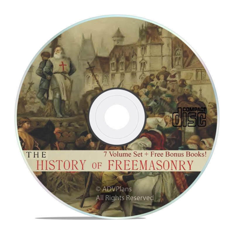 The History of Freemasonry, 7 Volumes, Albert Mackey Book Collection on CD V38