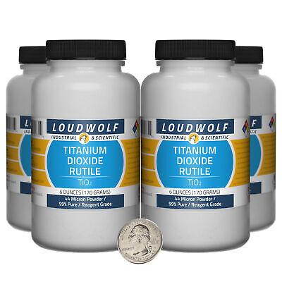 Titanium Dioxide Rutile 1.5 Lbs 4 Bottles 99 Reagent Grade