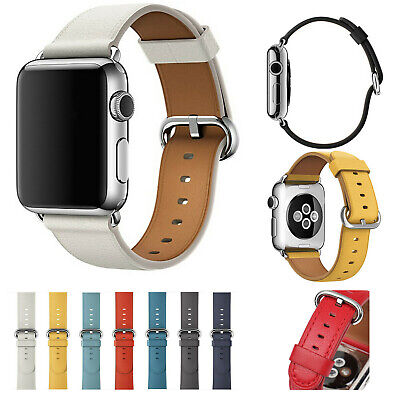 Genuine Leather Strap Bracelet Wrist Band For Apple Watch iWatch 2/3/4/5 40/44mm