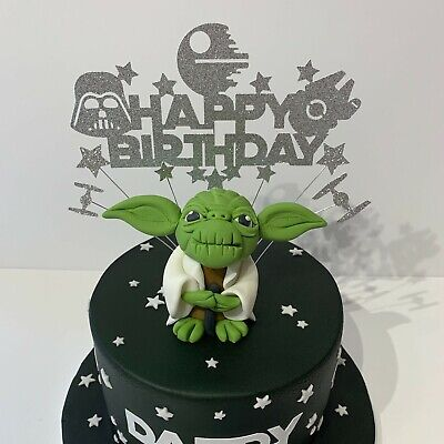 Star wars themed Glitter Cake topper
