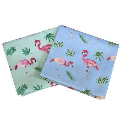 ultiMade Stofftaschentücher Einstecktücher im 2er Set aus Baumwolle: Flamingos
