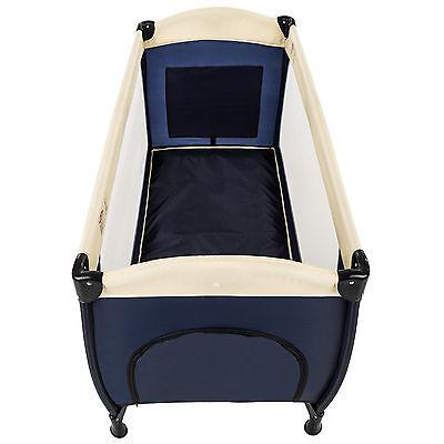 Reisebett Kinderreisebett Kinder Baby Babybett Kinderbett mit Einlage blau