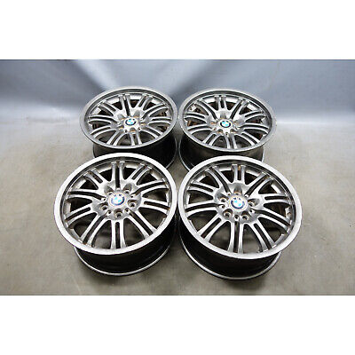"""2001-2006 BMW E46 M3 Staggered 18"""" ///M Double Spoke Style 67 Wheel Set of 4 OEM"""