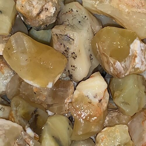 1000 Carat Lots of Unsearched Yellow Opal Rough + a FREE faceted Gemstone - Nice