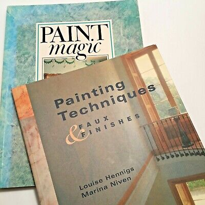 Lot of 2 Books on Faux Painting Techniques for Interior and Exterior Finishes