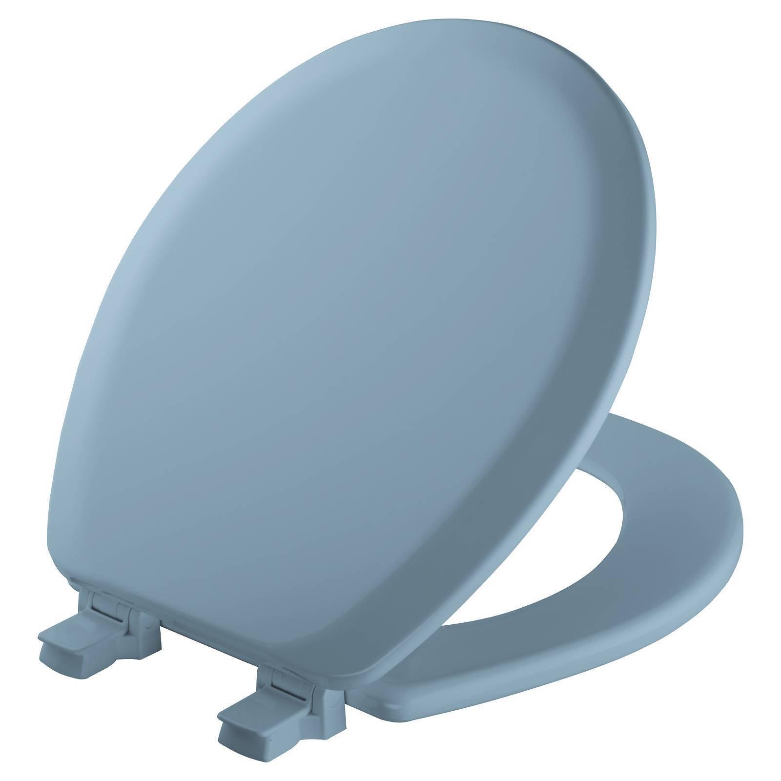 Bemis Toilet Seat Round Sky Blue Wood 41ec 034 | eBay