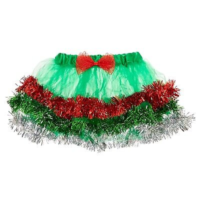 Christmas Tree Tinsel Tutu Skirt Girl's/Women's Junior Size M/L New