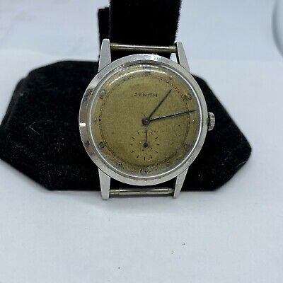 Vintage Zenith Men's Watch In Longines Case 34mm Silver Second Hand 810 Mvmnt