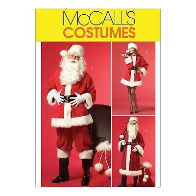 McCalls Schnittmuster M5550 - Kostüme - Weihnachtsmann - Weihnachtsfrau
