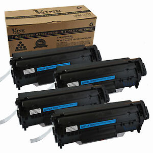 4 PK Canon 104 black Toner Cartridge FaxPhone L90 L120 ImageClass D480 MF4370dn