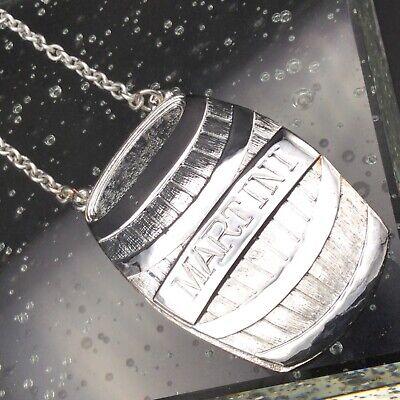 Silver Plate Spirit Decanter Label/Tag keg shaped MARTINI Label