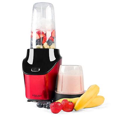 Eculina Smoothie Maker in rot /schwarz - Standmixer 1000 Watt Leistung  (Roter Smoothie Mixer)
