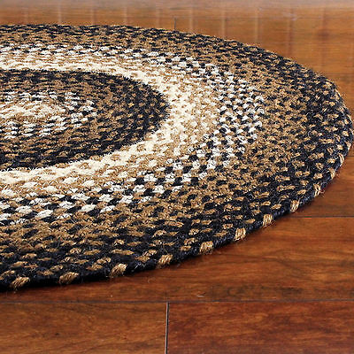 Black And Tan Area Rugs braided area rug black tan cream oval rectangle primitive country