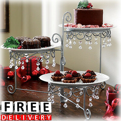 Dessert 3 Tier Holder Table Food Storage Stable Display Serving Cake Muffin New (Tier Serving Table)