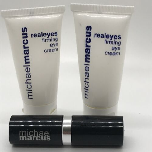 Michael Marcus Cosmetics 3 Items - Two RealEyes And One Vitamin E For Lips - $19.99
