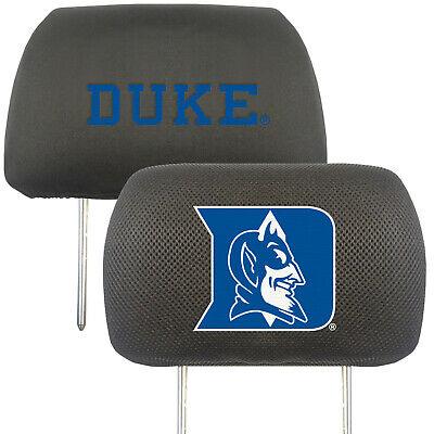 New NCAA Duke University Blue Devils Car Truck Suv Van 2pc Set Head Rest Covers
