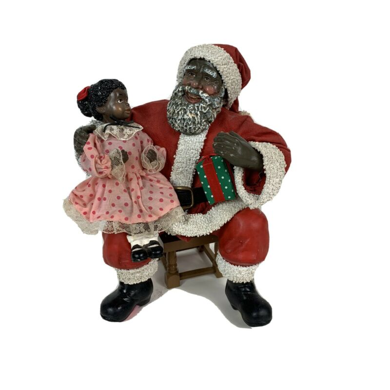 Vintage African American Clothtique Santa By Possible Dreams