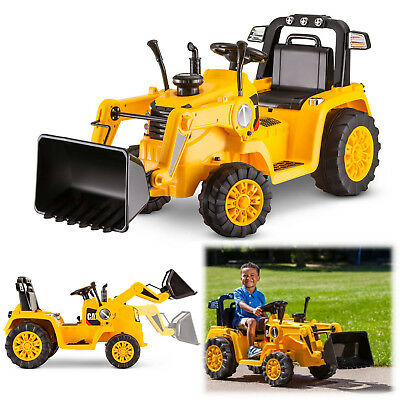 Battery Powered Tractor 6V Toddler Bulldozer Excavate Electric Kid Ride On Toys