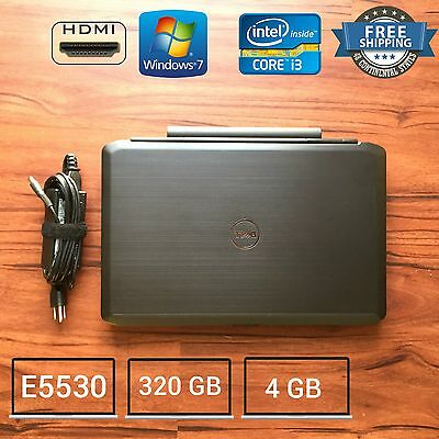 Dell Latitude E5530  Core I3 3110M 2 4Ghz 4Gb 320Gb Win 7 Laptop Hdmi Cam 15 6In