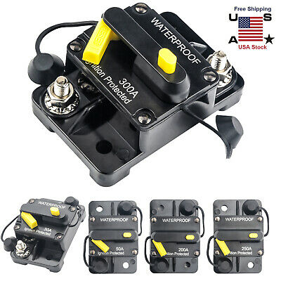 30300amp Dc Circuit Breaker Car Auto Marine Stereo Audio Fuse 12v 60a Reset Us