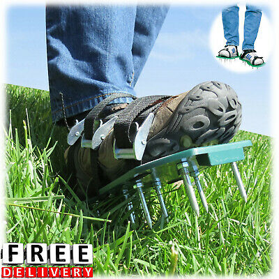 Lawn Aerator Shoes Sandals Plastic Grass Aerating Spikes Yard Sod Garden Tool