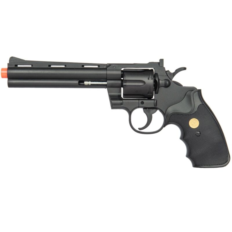 357 MAGNUM REVOLVER FULL SIZE SPRING AIRSOFT PISTOL HAND GUN w/ Shells 6mm BB