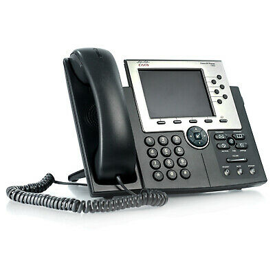 SIP Firmware Cisco 7961 CP-7961G VoIP PoE Business Phone w// Handset