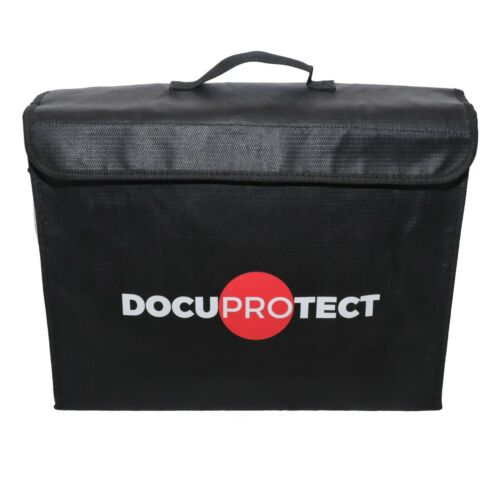 "Fireproof Document Bag - Large High Quality Safe Zipper 12""x16""x4"""