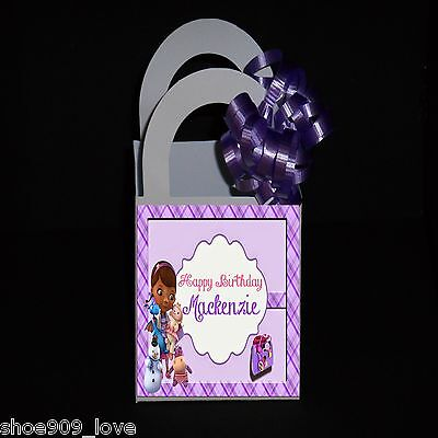 DOC MCSTUFFINS 12 PERSONALIZED BIRTHDAY PARTY FAVOR SMALL BOXES  RIBBON INCLUDED](Doc Mcstuffin Birthday Party)