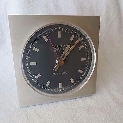 Kienzle Design chronoquartz Tischuhr Uhr Alu/schwarz 14x15cm made in Germany