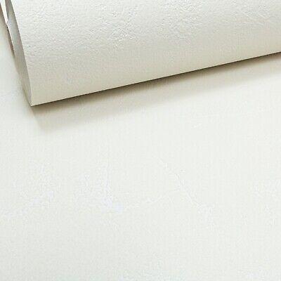 Off White Plastered Effect Thick Textured Vinyl Wallpaper Slight Imperfect Plain
