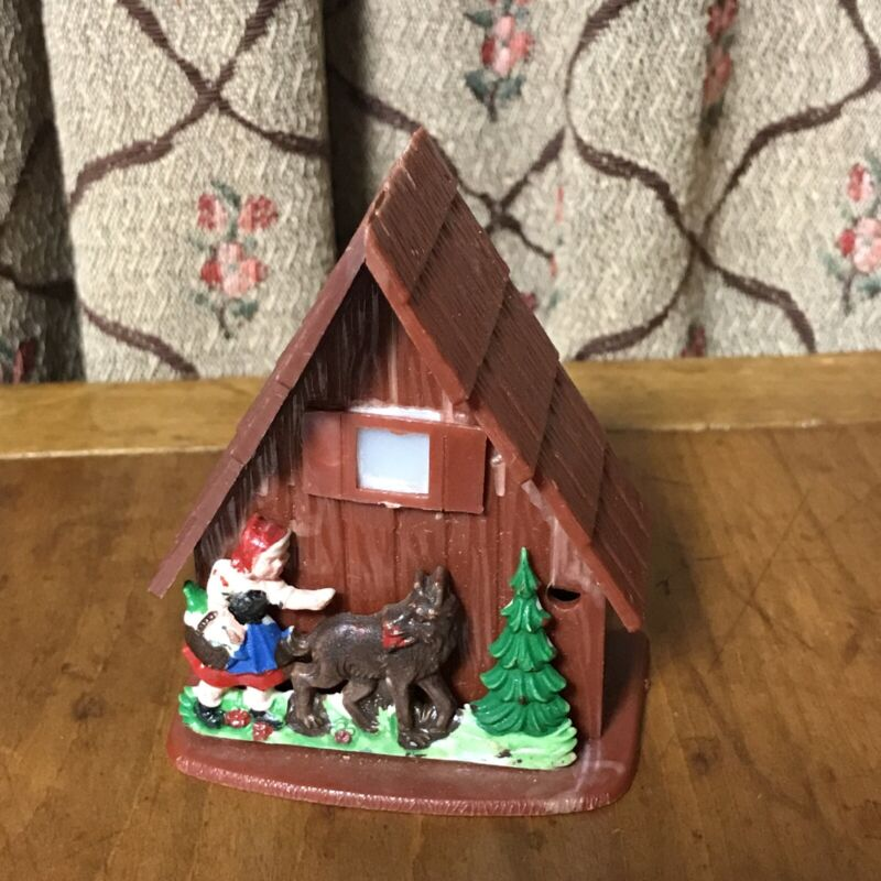 VINTAGE Toy VIEWER Little Red Riding Hood Wolf SWISS CHALET