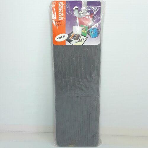 Bonds School socks Size 7 - 11 Knee hi Grey Vintage