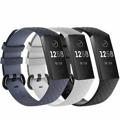 Fitbit Charge 3 4  Replacement Bracelet Watch Band Heart Rate Fitness 3 PACK Fit Tech Parts