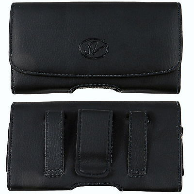 Leather Holster Clip FOR Boost Mobile Apple Phones fits w/ D
