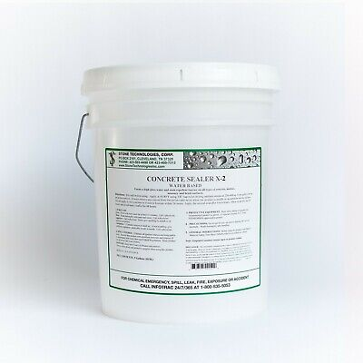 Concrete Sealer X-2 To Fix Porous Or Older Damaged Concrete Repair 5 Gallons