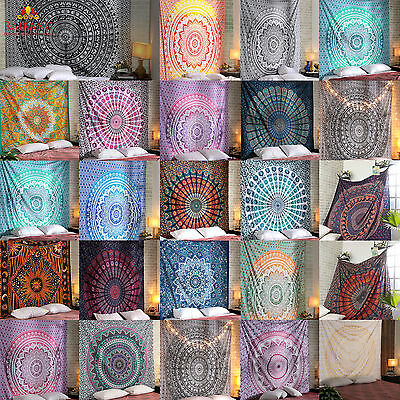 Mandala Tapestry Indian Wall Hanging Decor Bohemian Hippie Queen Bedspread - Hippie Home Decor
