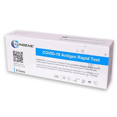 5x Clungene Corona Schnelltest Covid-19 Laien Selbsttest Antigen Test Kit BfArM