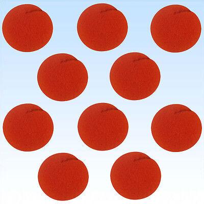 10 x Clownsnase Schaumstoff 5cm Durchmesser rote Nase Red Nose Day Clown