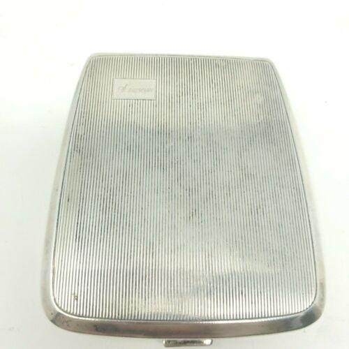 Vintage Dorgento WWII Era Sterling Silver Cigarette Case