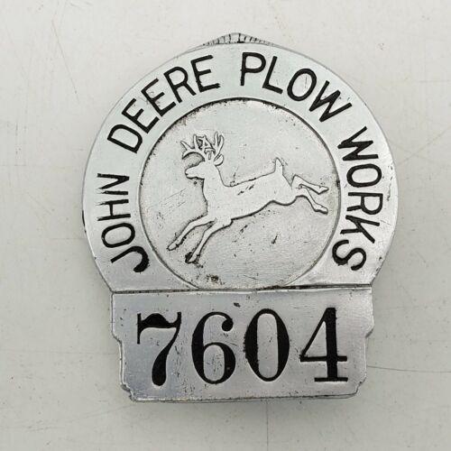 Vintage Rare John Deere Plow Works Factory Employee Security Badge Pin #7604