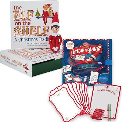 The Elf on the Shelf® Boy Scout Elf  and Letters to Santa Bundle