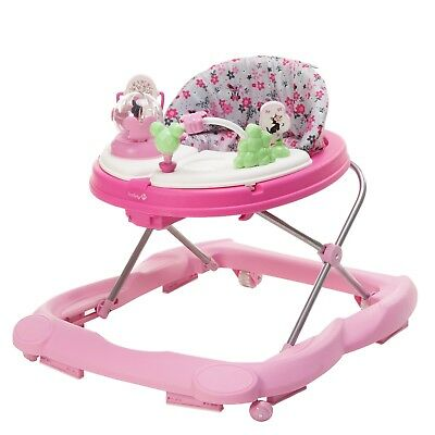 Walker Disney Baby Activity Tray Walk Toddler Safety Music Light Pink Infant Toy