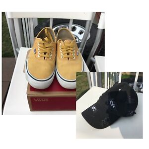 $25 Yellow Vans Authentic Pro and F21 Checkered Baseball Cap