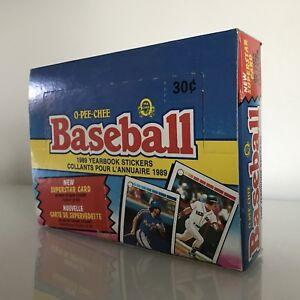 1989 O-Pee-Chee Baseball Yearbook Stickers Box