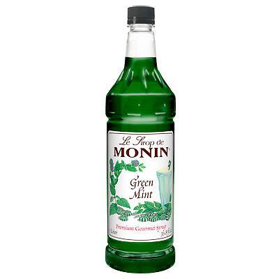 Monin Green Mint, 1 Liter (4 Pack)