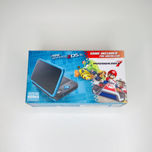 new 2ds xl black turquoise with mario