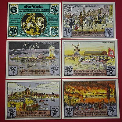 6 x Notgeld Hamburg , Sportvereinigung St. Georg der Hamburger Turnerschaft kfr