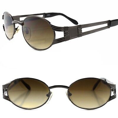 Old stock True Vintage 80s 90s Urban Hip Hop Indie Swag Fashion Oval Sunglasses